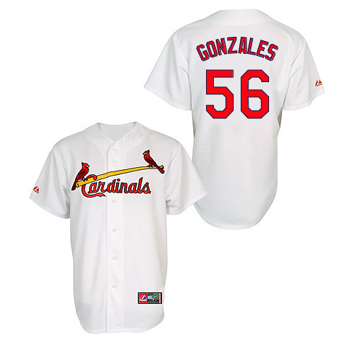 Marco Gonzales #56 MLB Jersey-St Louis Cardinals Men's Authentic Home Jersey by Majestic Athletic Baseball Jersey
